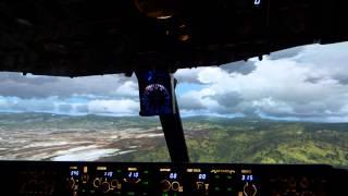 Insane landing in Tegucigalpa (Toncontin) Honduras MHTG heavy Crosswind/ 08.2014/( FullHD