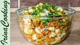 "САЛАТ ""ЛЕСНОЕ ЛУКОШКО"" с жареными грибами | Sautéed Mushroom Salad Recipe"