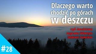 Dwudniowy szlak Karpacz - Szklarska Poręba, główny Szlak Sudecki w deszczu, mgle i słońcu.
