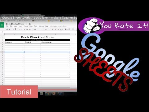 Excel / Google Sheet tutorial - basic level - make a Teacher Book