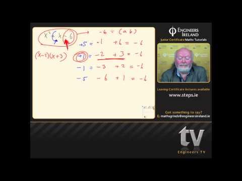 Algebra - Junior Certificate Maths Tutorial