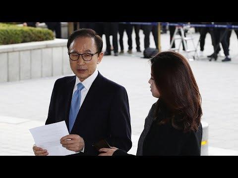 Former South Korean president Lee Myung-bak questioned in graft probe