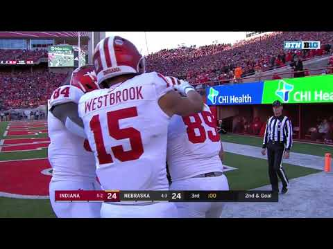 Indiana Hoosiers vs Nebraska Cornhuskers | Red Zone Offense | Matt Bjorson TD