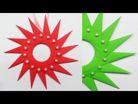 Christmas Wreath Ideas | Paper Wreath for Christmas Decorations | How to Make Paper Christmas Wreath
