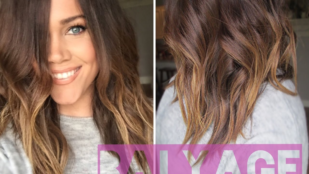 How To Balayage Highlight Your Hair At Home Youtube
