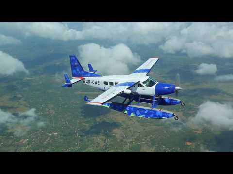 Domestic flight over Sri Lanka's South Coast and the Central Hills