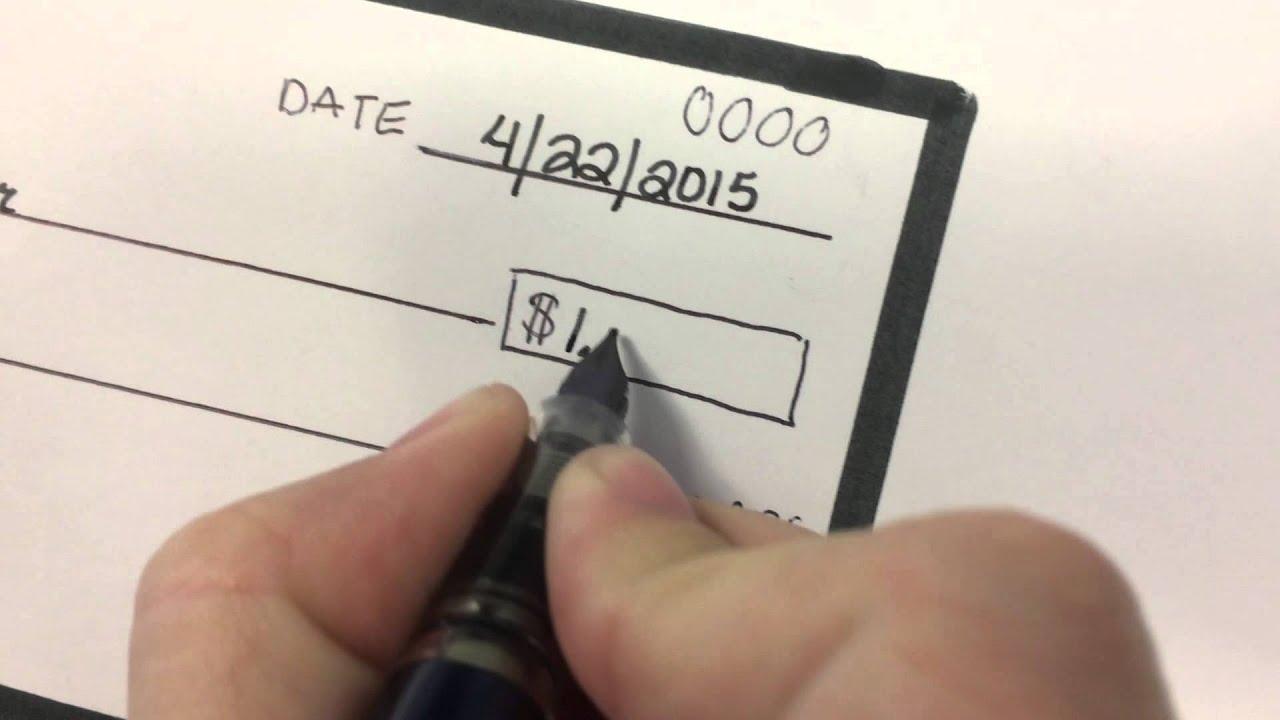 Mediumistic writing a check