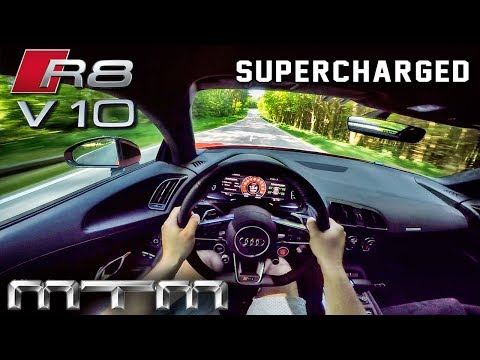 Audi R8 V10 Plus SUPERCHARGED 802HP MTM POV Test Drive by AutoTopNL