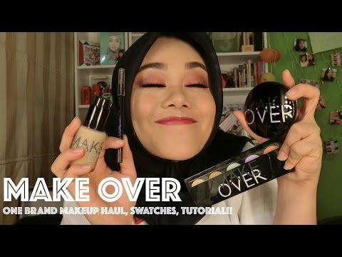 Make Over One Brand Makeup Haul, Swatches, Tutorial | First Impression | Indonesia | MakeupbyFatya