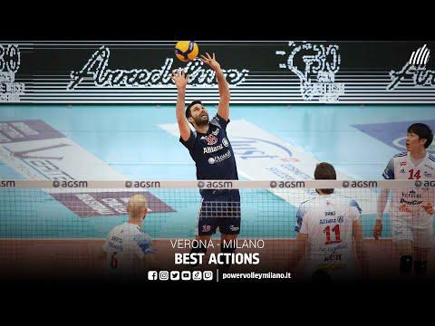 Superlega, best actions Verona - Milano