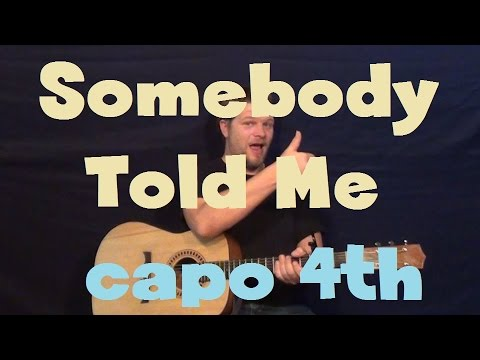 Somebody Told Me (The Killers) Easy Strum Guitar Lesson How To Play Tutorial