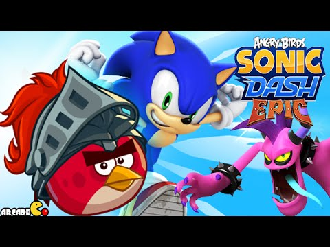 Sonic Dash: Angry Birds Epic Takeover BOSS BATTLE! IOS/ANDROID