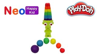 Play Doh Rainbow Zombie Popsicle Ice Cream Learn Colors Fun For Kids Clay Play Dough NeoHappyKid
