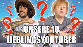 Das sind unsere 10 LIEBLINGSYOUTUBER..!