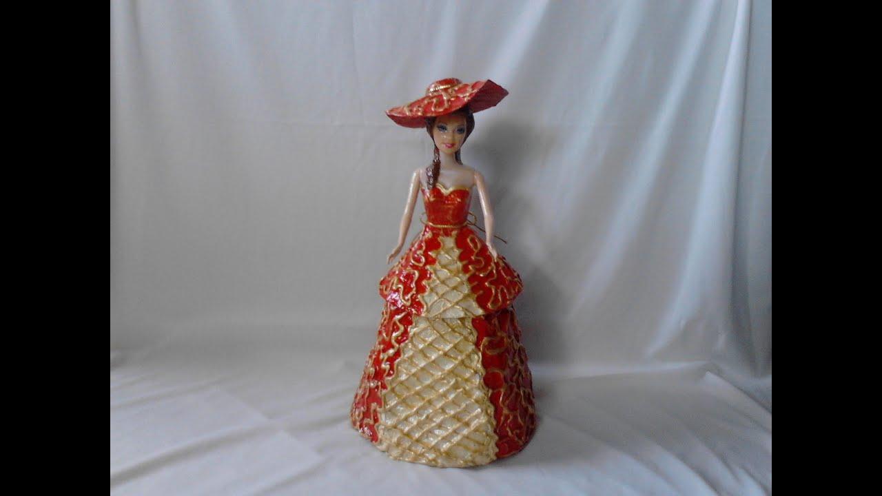 Joyero dama elegante diy hecho de papel youtube - Manualidades de papel reciclado ...