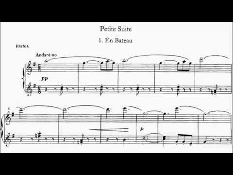 HKSMF 70th Piano Duet 2018 Class 156 Debussy Petite Suit No.1 En Bateau Sheet Music 校際音樂節