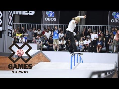 Jaakko Ojanen is your top Men's Skateboard Street Nordic Qualifier | X Games Norway 2018