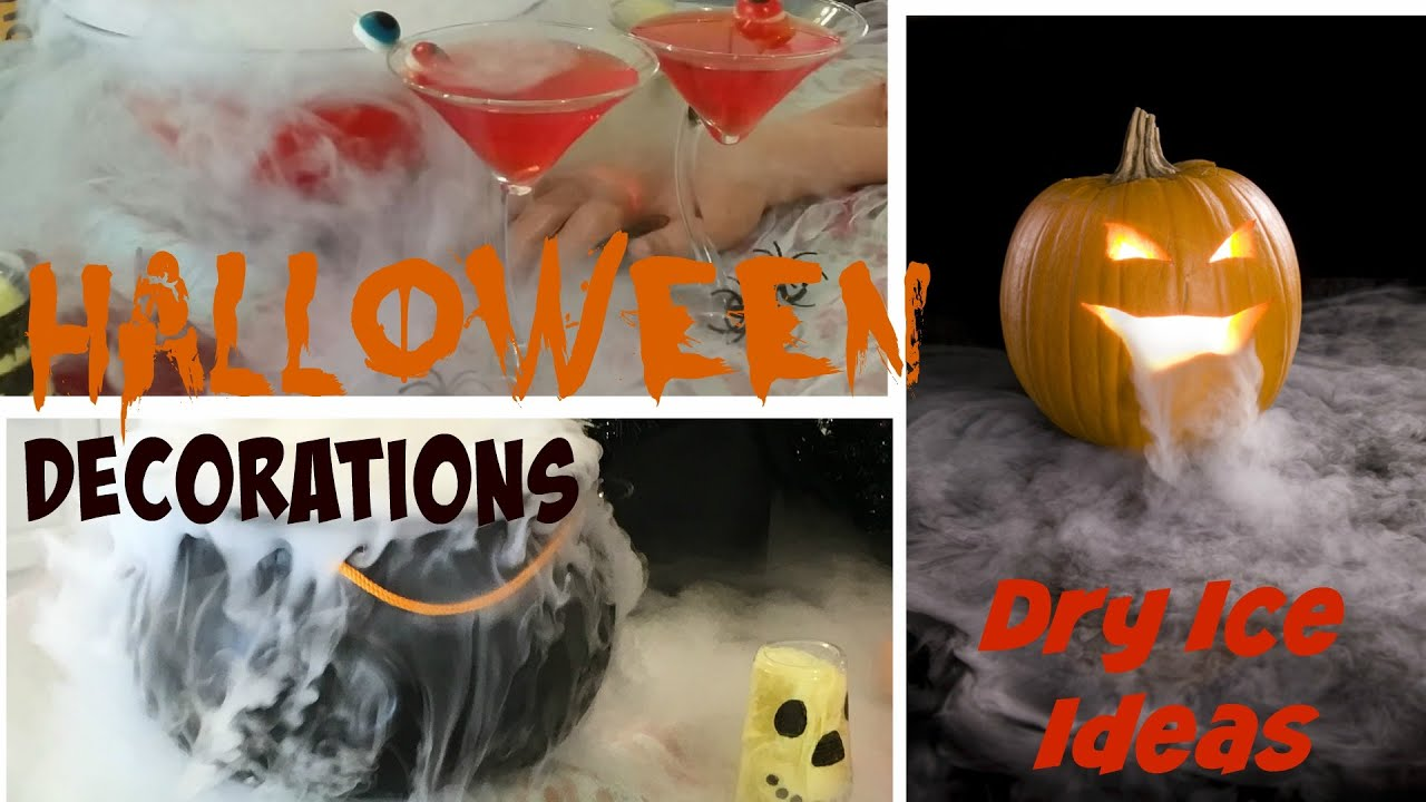 DIY Halloween Party Decoration Ideas - Dry Ice Tutorial - YouTube