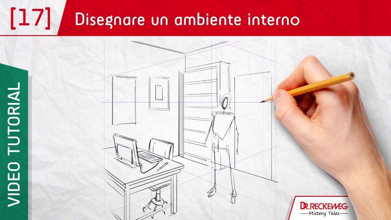 Prospettiva di un ambiente interno come disegnare un for Disegnare una piantina di casa