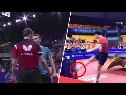Crazy Rage & Angry Moments in Table Tennis [HD]
