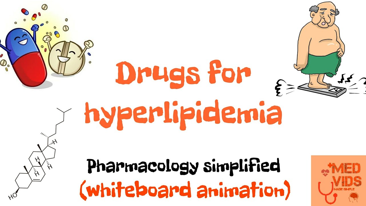 Drugs for hyperlipidemia | Hypolipidemic drugs | Pharmacology | Med Vids Made Simple