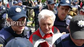 Ukraine: Some 20 detained as nationalists upend Odessa V-Day rally