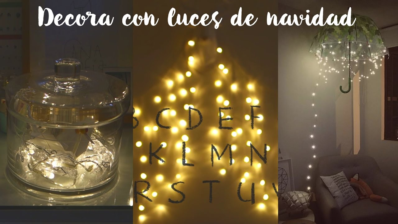 Decora tu cuarto con luces de navidad diy youtube for Luces para decorar habitaciones