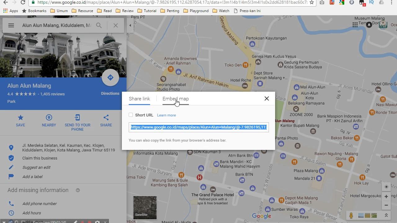 Cara Mudah Memasang Google Maps Di Website Html Lengkap Youtube