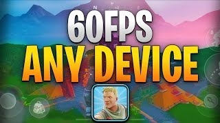 How To Get 60FPS On ANY Fortnite Mobile iOS Device (NO PC)