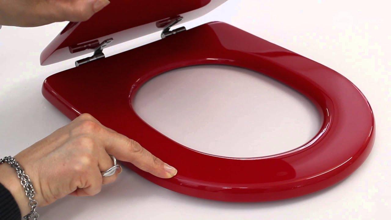 Sedile copriwc ideal standard serie esedra colore rosso for Serie esedra ideal standard