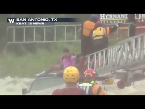Dramatic high-water rescue in San Antonio