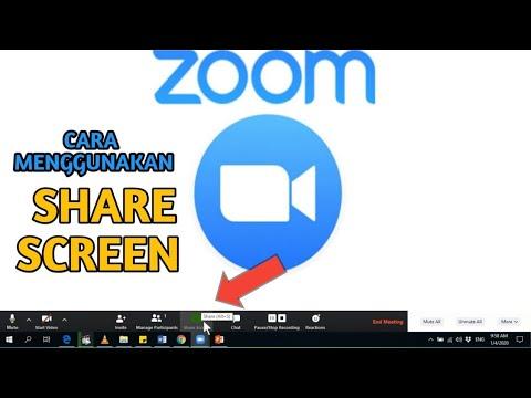 Cara Menggunakan Share Screen Pada Aplikasi Zoom Meeting Youtube