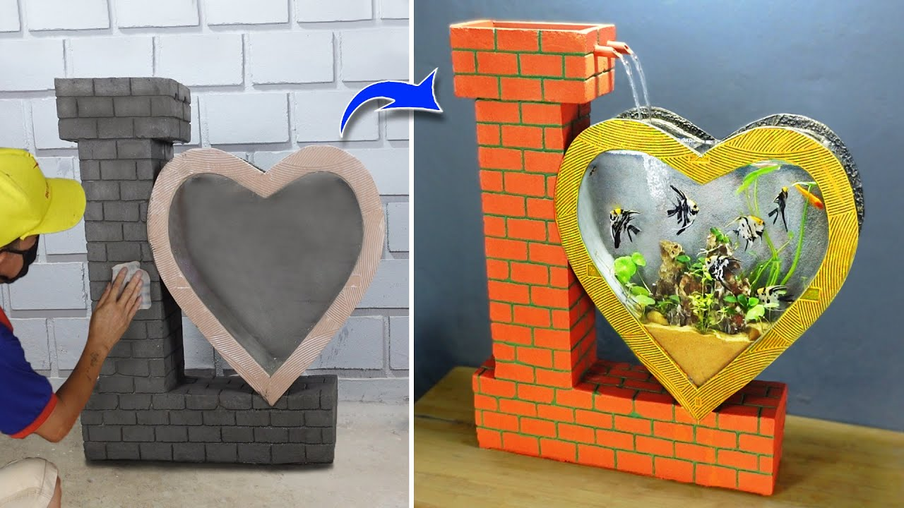 How to present your LOVE by Making Heart Aquarium