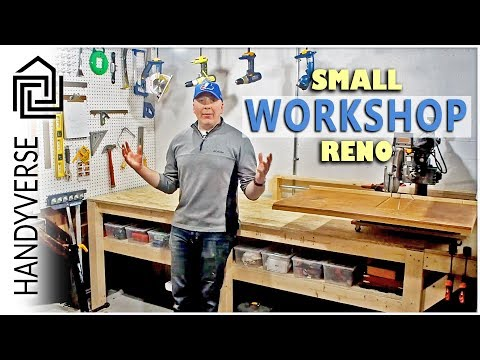 How to Make the Best Use of a Small Space - Small Workshop Reno : Budget Renos #04