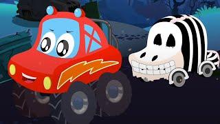Хэллоуин дерево музыка для малышей дошкольный Little Red Car Russia детские мультфильмы