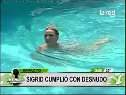 Singrid Alegría Deleitó En Piscinazo Desnuda Y Con Cuerpo Pintado En Viña Del Mar Video