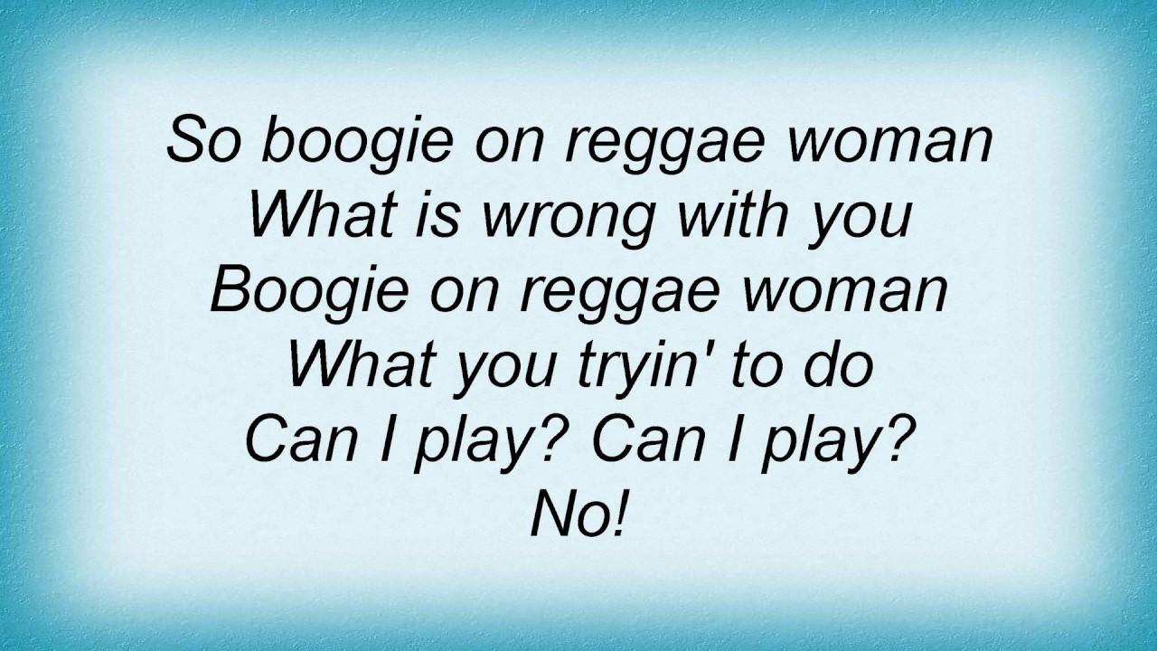 Stevie Wonder - Boogie On Reggae Woman Lyrics - Youtube-9667