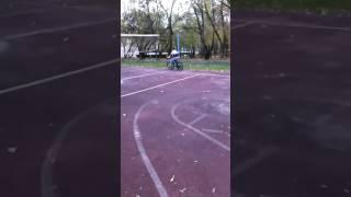 Медведь на велосипеде 1(Смешные комментарии к смешному катанию на велику., 2016-10-16T18:12:02.000Z)