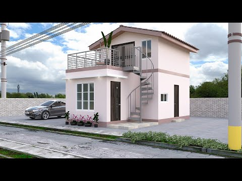 Small House Design with Roof Deck (5x8 Meter)