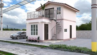 Small House Design With Roof Deck  5x8 Meter