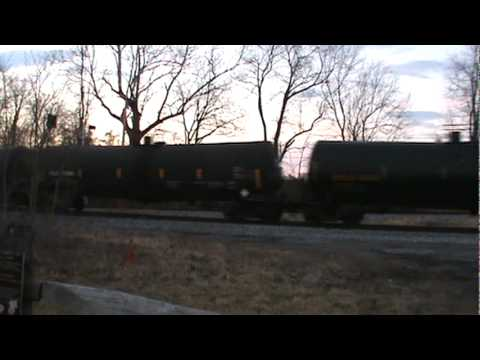 csx freight train frederick with maryland midland railroad cars
