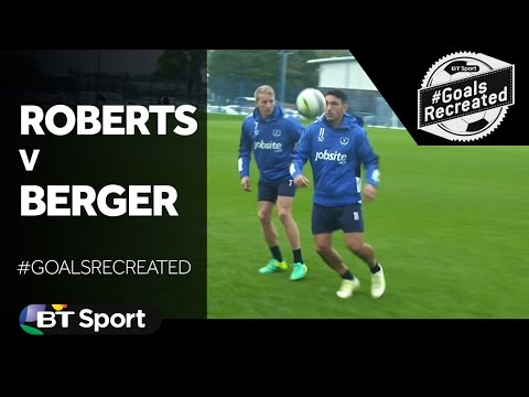 Gary Roberts tries to recreate Patrik Berger   s stunning Premier League Goal New Flash Game