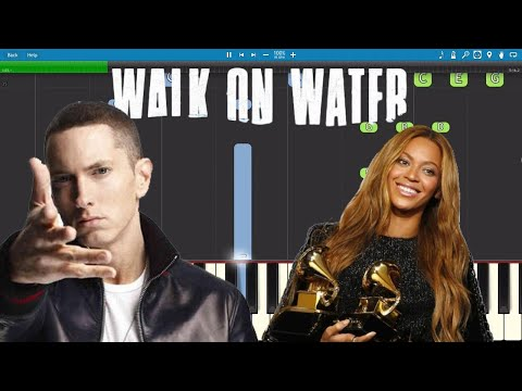 Eminem - Walk On Water ft. Beyoncé - Piano Tutorial