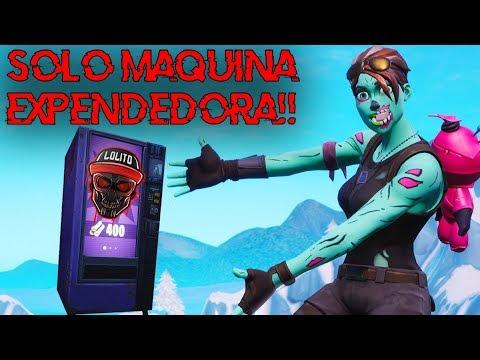 💀¡GANANDO SOLO con MAQUINA EXPENDEDORA! 💀 ~ FORTNITE