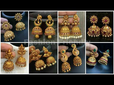 Gold jhumka designs 2019 | Gold jhumka earrings | latest gold jhumka designs 2019 - Fashion Friendly