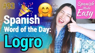 logro spanish word of the day 93