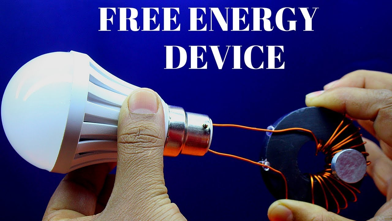 Free Energy Gegerator Using Copper Wire Light For Lifetime Wiring A Bulb Device Magnet