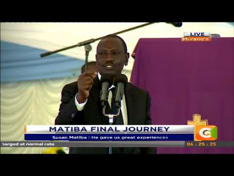Deputy president William Ruto full speech at Matiba memorial