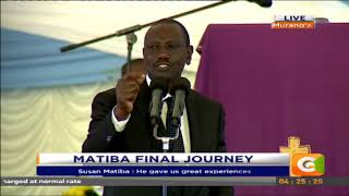 Deputy President William Ruto's full speech at Matiba's memorial