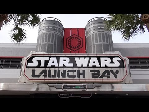 Star Wars Launch Bay at Disney's Hollywood Studios FULL Tour with Characters, Models, Merch